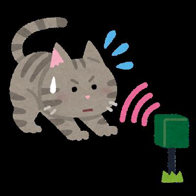 超音波で猫を追い払うイラスト